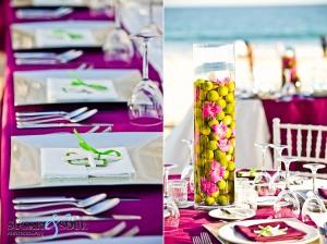 Unique wedding decor and flower design at Barcelo Los Cabos