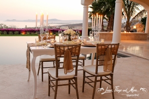 Private dinner decor at Puerto Los Cabos