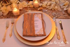 Custom gold napkins Puerto Los Cabos