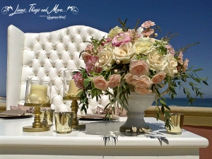 Bridal table vintage Sheraton Hacienda del Mar Los Cabos