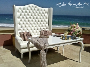 White wedding bench Sheraton Hacienda del Mar