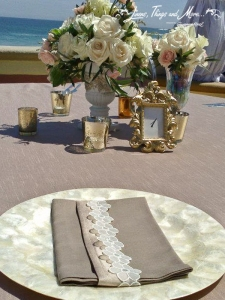 Napkin bands wedding Cabo