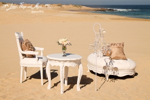 Baroque wedding ceremony decor Cabo San Lucas
