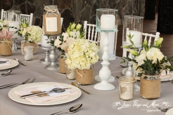 Dove Gray, Blush pink, and burlap vintage wedding decor Cabo