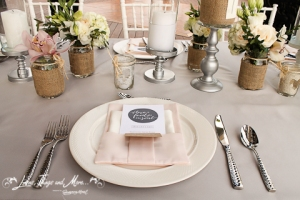 Dove Gray and Blush pink Cabo event design