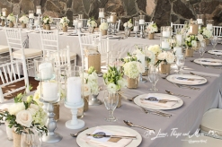 High end light gray and light pink wedding design Cabo Azul Resort