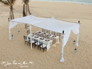 Celebrate in Style in Cabo - dinner on the beach