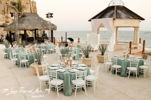 High end wedding linens design Cabo Mexico