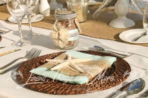 Hand made custom napkin bands wedding favors Cabo