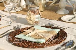 Hand made custom napkin bands wedding favors Cabo