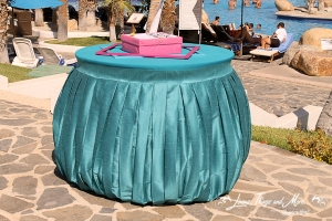 Turquoise Cake table linen Melia Cabo Real