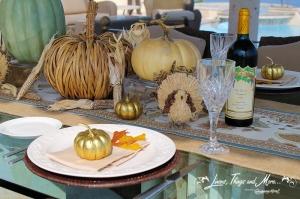 Thanksgiving dinner decor Cabo
