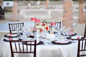 Los Cabos coral Wedding decor and design Barcelo