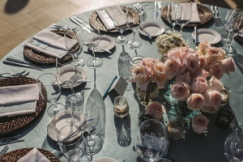 Aqua, brown and blush pink wedding design Sheraton Hacienda Del Mar Cabo San Lucas