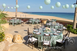 Sheraton Los Cabos  Aqua & Brown wedding decor Linens, Things and More... by Suzanne Morel