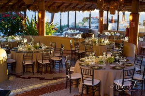 Elegant gay wedding decor at Sunset Da Mona Lisa Cabo