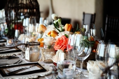 Imperial Table wedding decor and floral design in Villa Bellissima Cabo San Lucas
