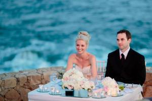 Romantic and elegant wedding reception decor Esperanza Resort Los Cabos