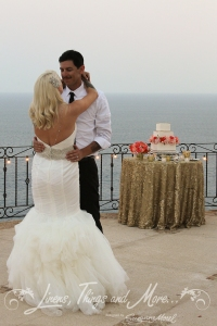 Vintage wedding cake design Cabo Villa Pedregal