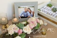 Entrance table wedding decor Barcelo Los Cabos succulents blush
