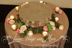 Nude sequins wedding cake table design, flowers Cabo Floral Studio, Barcelo Hotel