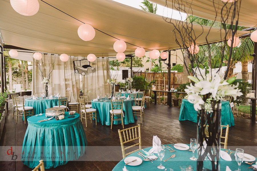 Elegant turquoise destination wedding d cor at baja for Decor n more