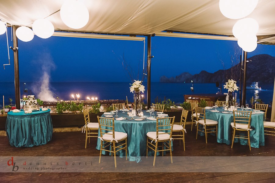 Elegant Turquoise Destination Wedding Décor at Baja Cantina | Cabo ...