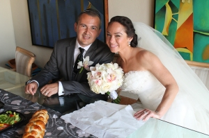 Alice and Joe's Jewish wedding ceremony at the Fiesta Americana Los Cabos