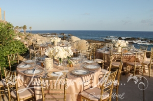 Matthew Robbins Esperanza Champagne and gold wedding design