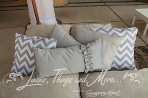 Gray chevron pillows for lounge decor Los Cabos
