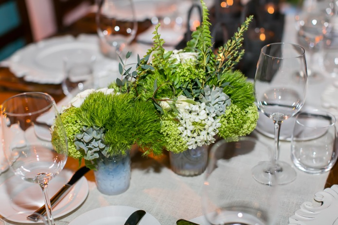 Green centerpiece by Pina Hernandez