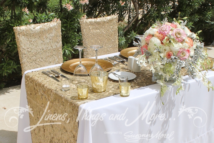 Hyatt Cabo Pink Gold Sweetheart Table