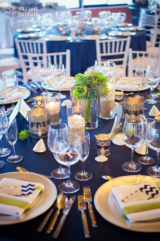 Navy and Green table in Cabo