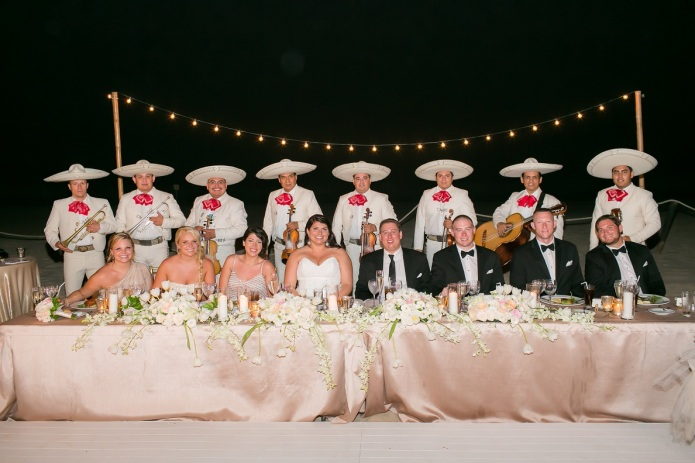 cabo wedding head table