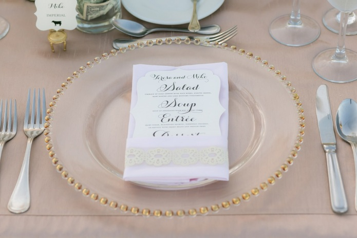 cabo wedding place setting