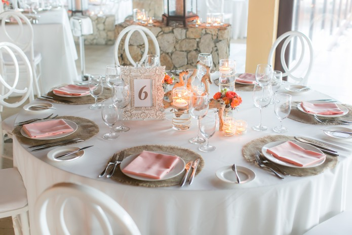 cabo wedding table decor