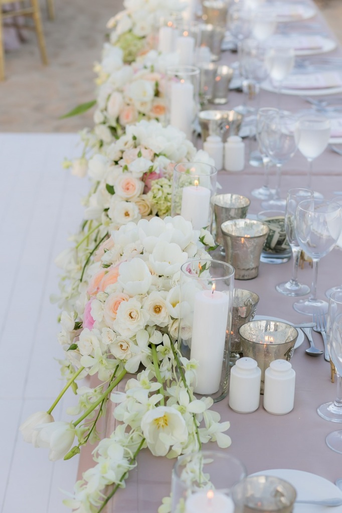 cabo wedding table flowers