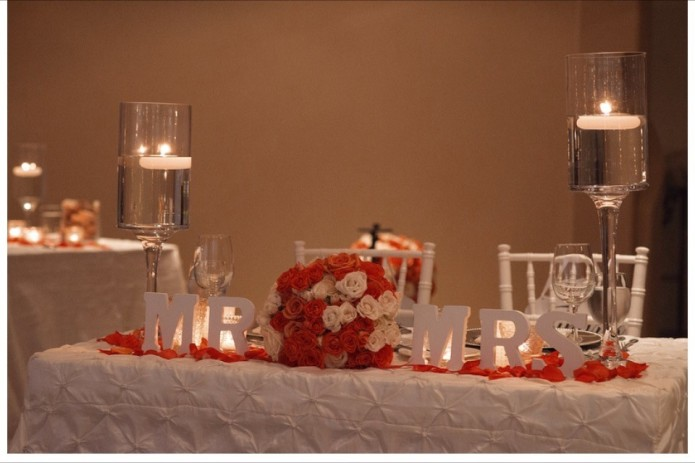 Cabo sweetheart table winter wedding