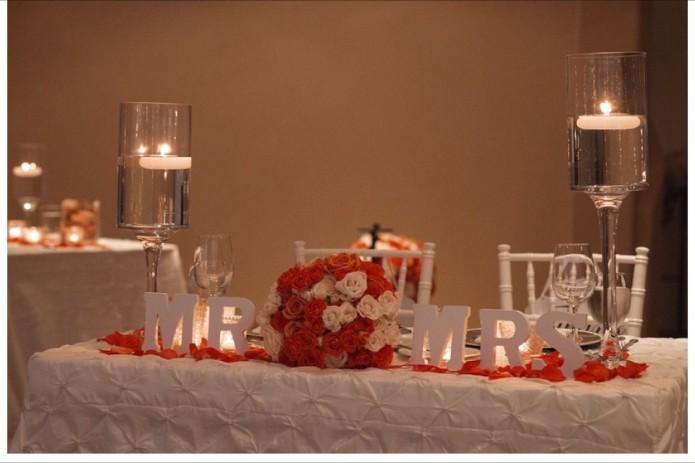 Cabo sweetheart table winter wedding