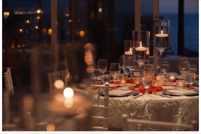 Cabo winter wedding table decor