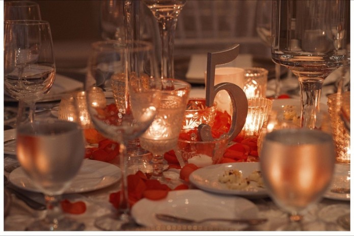 Cabo winter wedding table numbers