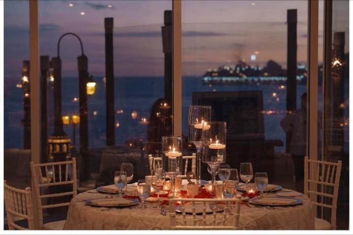 Winter wedding decor at Sunset da Mona Lisa