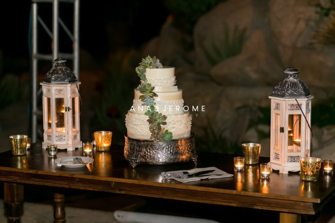 Cabo wedding cake table