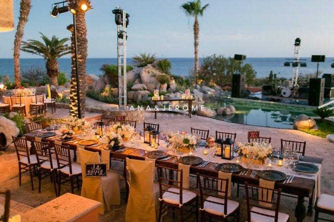 Cabo wedding head table