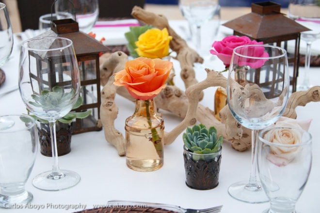 Nature-inspired Cabo Wedding Tablescape
