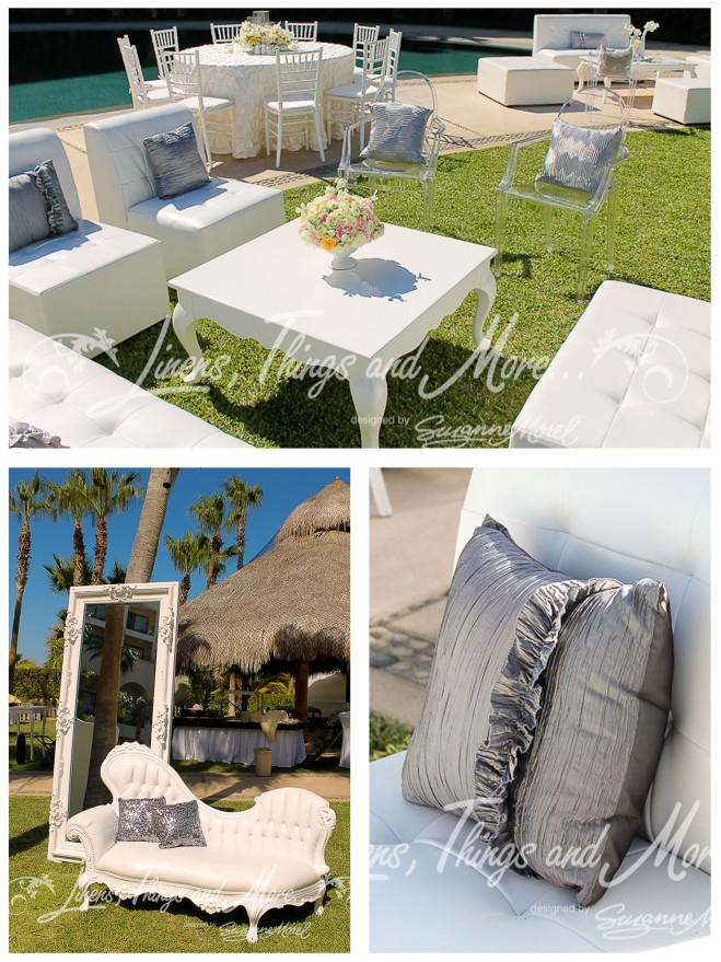Grey-and sequen-pillow-Cabo-Wedding-beach-event-vintage