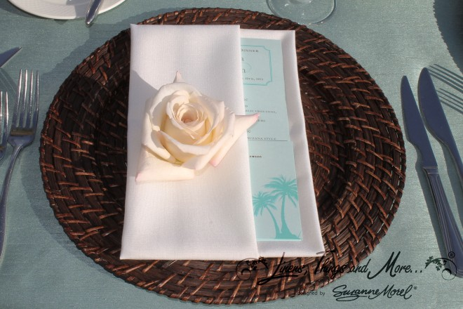 Napkin Sheraton Aqua & Brown Cabo Wedding