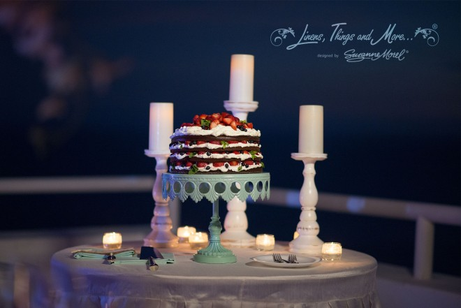 Cake table Mint and Off-White Elegant Rustic Wedding at Villa Clara Vista