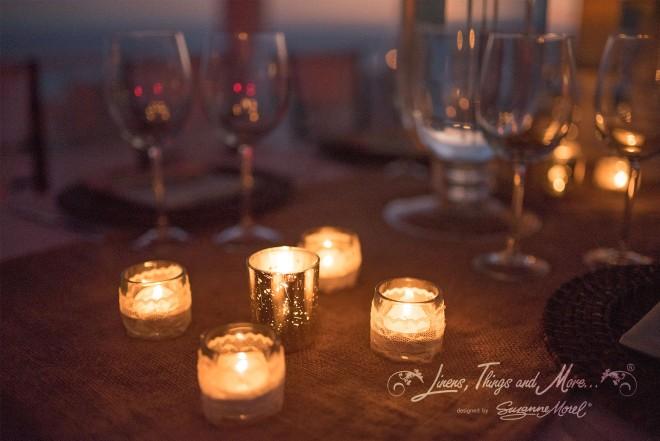Candles Mint and Off-White Elegant Rustic Wedding at Villa Clara Vista