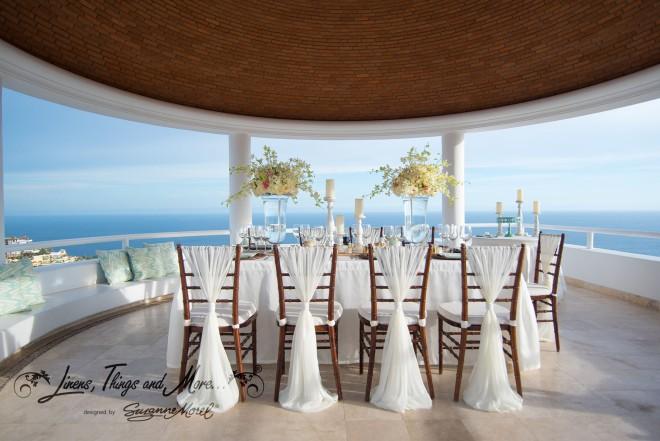 Mint and Off-White Elegant Rustic Cabo Wedding at Villa Clara Vista